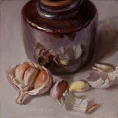 Wang Fine Art: garlic daily painting a day