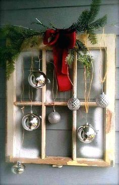 old window ideas for windows decorating reuse at christmas