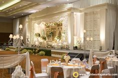 Ferry and Dita's Wedding Reception; Venue at Sasana Kriya; Decoration by Mawar Prada Decoration; Lighting by Lightworks