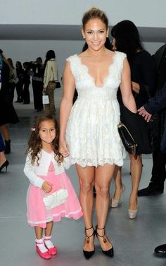 Jennifer Lopez - JLo sits front row at Chanel with Emme