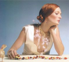 Michelle Pajak-Reynolds Petals Collection: Daffodil necklace featured in Estylo magazine fashion editorial