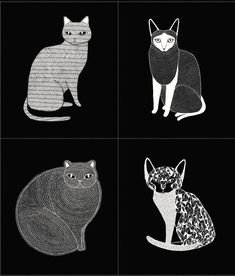 Gingiber Catnip Panel in Black for Moda Fabric One Yard Cat Fabric Black and White Fabric Animals Fabric Catnip Collection Quilt Panels by Owlanddrum on Etsy Panel Quilts, Quilt Blocks, Black And White Fabric, Black White, Cat Fabric, Cat Quilt, Textile Fiber Art, Buy A Cat, Fabric Panels