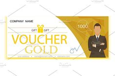 3 Gift voucher template by pashigorov on @creativemarket