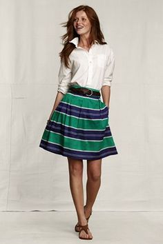 ooo..these stripes <3 Pleated Pattern Skirt @ Lands' End Canvas $59.50