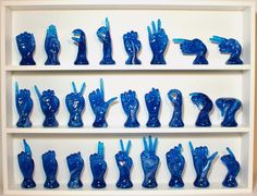 The American Sign Language Alphabet-Teal Blue
