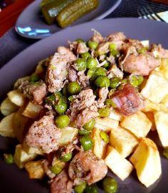 Brassói zöldborsóval Potato Salad, Cooking Recipes, Potatoes, Ethnic Recipes, Food, Bulgur, Chef Recipes, Potato, Essen
