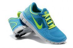 Nike Free Run 3 Womens Blue Green 2013 Running Shoes