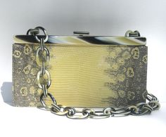 1980s mint Escada genuine ring lizard and by SplendoreBoutique, $300.00