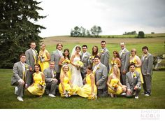Love the yellow and gray combination!!
