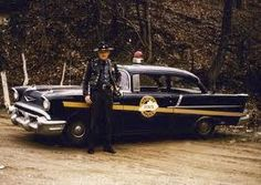 1957 #PoliceCar with #PoliceOfficer