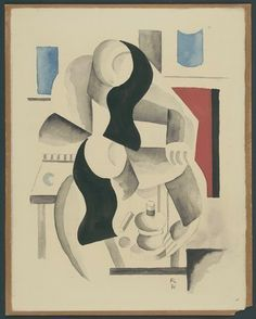 Fernand Leger: Two Women, 1921, watercolor on paper, MoMa