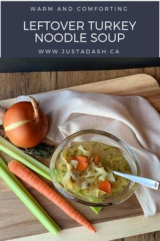 Make your own turkey broth into amazing turkey noodle soup with those turkey leftovers! Simple and cost saving! Turkey Noodle Soup, Turkey Broth, Turkey Stock, Turkey Leftovers, Thanksgiving Leftovers, Leftover Turkey, Cost Saving, Fresh Vegetables, Fall Recipes