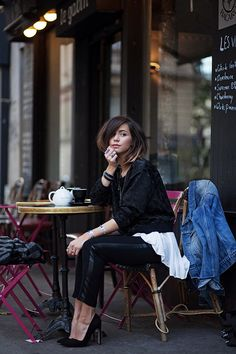 Hot Looks, by Hype + Newness Parisian Girl, Parisian Style, Fashion Mode, Love Fashion, Fashion Trends, Cafe Style, Style Me, Style Parisienne, Black