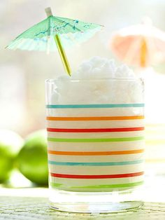 This yummy frozen drink offers a taste of the tropics. In a blender, combine 5…