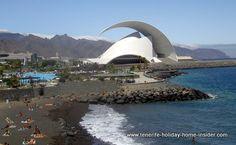 Santa Cruz Tenerife auditorium with beach