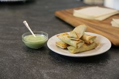 Baked Avocado and Feta Egg Rolls