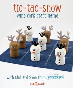 6 Interesting DIY Wine Cork Projects Instead maybe a chess set for Studio Class Christmas Activities, Holiday Fun, Christmas Holidays, Christmas Games, Family Christmas, Wine Craft, Wine Cork Crafts, Holiday Crafts, Fun Crafts