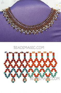 Bronze free Lace Necklace pattern Free Instructions for Necklace Bronze Lace see .Bronze Free Lace Necklace pattern Free pattern for necklace Bronze Lace Rocailles short hornBridesmaid Cluster CTW Diamond Fine Gift Bridesmaid Cluster CTW Beaded Necklace Patterns, Lace Necklace, Beaded Bracelets, Bracelet Patterns, Jewelry Making Tutorials, Beading Tutorials, Beading Patterns, Seed Bead Jewelry, Bead Jewellery