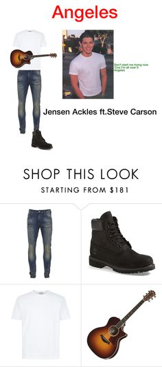 """""""Angeles-Jensen Ackles ft. Steve Carson"""" by emilylvmuncraft on Polyvore featuring Scotch & Soda, Timberland, mens, men, men's wear, mens wear, male, mens clothing, mens fashion and scarlette13"""
