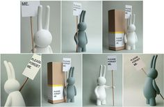 """Mr. Clement's first vinyl figure: """"Please Forget Me"""" Petit Lapin!"""