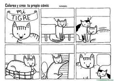 como-hacer-un-comic-3 Picture Boards, Spanish Activities, Art For Kids, Peanuts Comics, Language, Cartoon, Feelings, Writings, Valencia