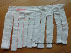 Nella valigia della Buru: Come ottenere fettuccia per borse da una vecchia maglietta o da uno scampolo di maglina