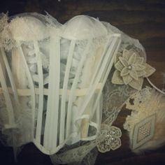 Sheer overbust, ready for embellishment. Totally Waisted! by Katrina Mior Corsets.