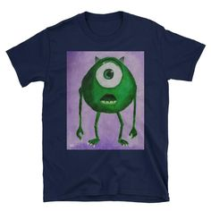 Monsters Inc Short-Sleeve Unisex T-Shirt This makes for a great staple t-shirt. It's made of a thicker, heavier cotton, but it's still soft. And the double stit Nerdy Shirts, Monsters Inc, Unisex, Sleeve, Awesome, Cotton, Mens Tops, T Shirt, Stuff To Buy