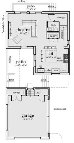 Modern Style House Plan - 2 Beds 2.5 Baths 2265 Sq/Ft Plan #64-234 Floor Plan - Main Floor Plan - Houseplans.com