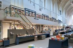 unusual bookstores   Old Church transformed in Beautiful Bookstore in Zwolle