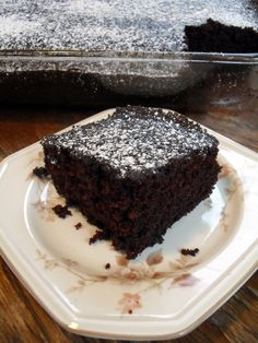 """Wacky Cake - we used to eat this growing up. We were told it's """"wacky"""" because it contains no eggs."""