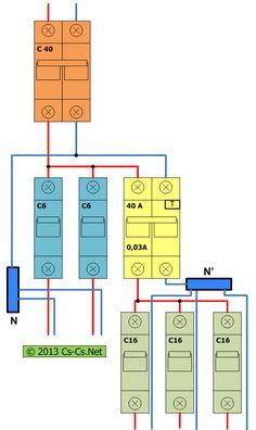 Схема включения УЗО с дополнительными шинками