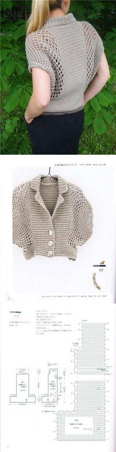 Blouse crochet, fashion sweater knitted crochet scheme | Все о рукоделии: схемы, мастер классы, идеи на сайте labhousehold.com