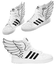 I believe I can fly Hermes Addidas hightops. Hot Shoes, Shoes Sandals, Shoes Sneakers, Jeremy Scott Adidas, Hermes Shoes, Nike Converse, Sporty Outfits, Superman, Fashion Shoes