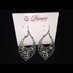 Premier Designs 'Blissful' earrings 'Blissful' antiqued matte silver plated, crystals fishhook earrings. Premier Designs Jewelry Earrings