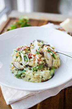Creamy Winter Risotto with Asiago Cheese | The Cozy Apron