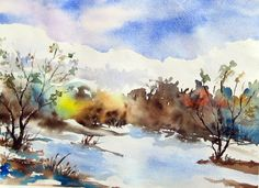 watercolor paintings online in India we should do so respectfully and almost reverentially. This applies to how the art is shipped as well. When the art arrives on your client's doorstep, Watercolor Paintings For Sale, Watercolor And Ink, Original Paintings, Watercolor Canvas, Buy Paintings Online India, Online Painting, Watercolor Landscape, Landscape Paintings, Animal Paintings