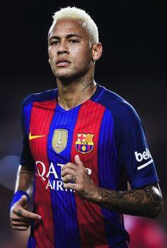 Neymar JR. La Liga Barcelona 16/17 home soccer jersey.