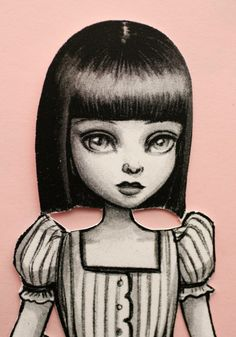 Little Miss  paper doll by Mab Graves by mabgraves on Etsy, $5.00 Love all her paper dolls.