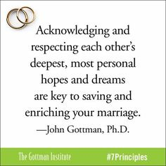 the ideas on happy marriages in 7 principles for making marriage work John gottman's seven principles for making marriage work provides in detail the ways in which a person could have a healthy marriage and by extension the principles also generally apply to.