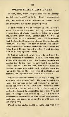 Page 1 of Joseph Smith's Last Dream, as told by W. Temple Quotes, Church Quotes, Latter Days, Latter Day Saints, Mormon History, Last Dream, Lds Church, Church Ideas, Messages