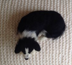 Needle felt border collie by Karen a Norton Designs on Facebook and Etsy