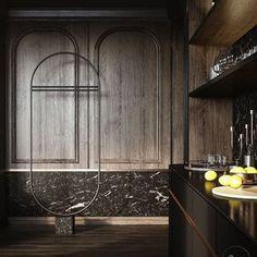 💫İyi Pazarlar✨#icmimarlikistanbul Lobby Interior, Restaurant Interior Design, Interior Trim, Rack Design, Wood Panel Walls, Wall Finishes, 3d Models, Decorative Panels, Inspiration Wall