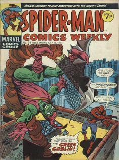 Spider-Man Comics Weekly No 74 Week ending July 13th 1974 VG+ Jack Kirby