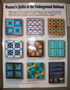 underground railroad quilts patterns | Then we saw this on the wall, and I thought y'all might appreciate ...