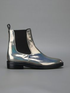 Markus Lupfer Metallic Chelsea Boots -- $442