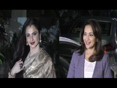 Madhuri Dixit & Rekha at special screening of Bajirao Mastani.