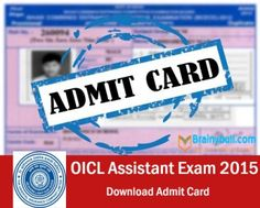 Download OICL Call Letter Assistant Exam 2015
