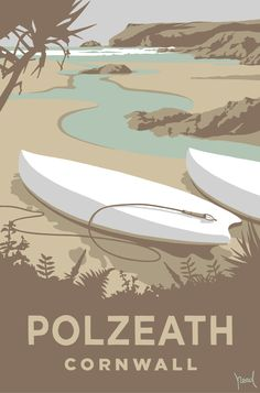 Polzeath (SR22) Coastal Art Print by Steve Read http://www.thewhistlefish.com/product/sr22f-polzeath-print-by-steve-read #polzeath #cornwall #surfing