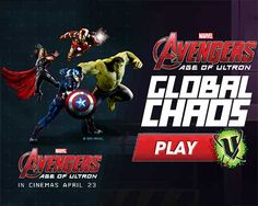 Avengers: Age Of Ultron - Global Chaos is a free Action games! Take control of the Avengers as they race around the world in a bid to stop Ultron.